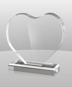 Acrylic Heart Award
