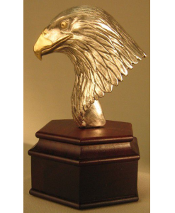 Eagle Head on Rosewood Base