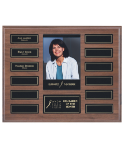 Perpetual Solid Walnut Plaque with Picture