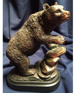 Bronzed Resin Bear